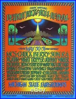 Detroit Rock N Roll Revival Original Concert Poster Gary Grimshaw