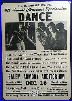 Don And The Goodtimes 1967 ORIGINAL Boxing Style Concert Poster