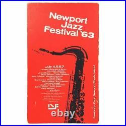 Duke Ellington Nina Simone 1963 Newport Jazz Festival Concert Poster