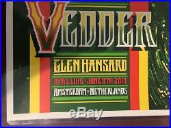 Eddie Vedder Amsterdam 2019 Pearl Jam Concert Poster by Brad Klausen SE NOT EMEK