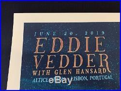 Eddie Vedder Concert Poster Lisbon Portugal 6/20/19 Suburban Avenger Luke Martin