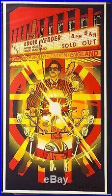 Eddie Vedder London Concert Poster 2017 Glen Hansard Pearl Jam Apollo