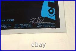 Eddie Vedder Pearl Jam Brad Klausen Signed 2008 Solo Concert Tour Poster! Mint