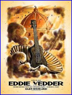 Eddie Vedder Pearl Jam Concert Poster Firenze Florence, Italy AP Variant /100