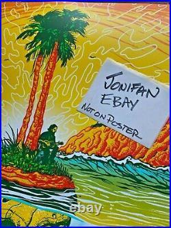 Eddie Vedder Pearl Jam Concert ScreenPrint Poster Ohana 2020 SE Munk One Mint