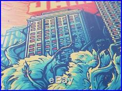 Eddie Vedder Signed Fenway Park 2018 Concert Poster Pearl Jam Dan Mumford Boston