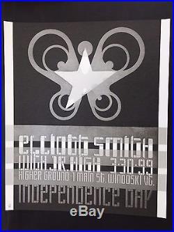 Elliott Smith Rare Original 1999 Higher Ground Vermont Silkscreen Concert Poster