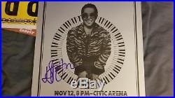 Elton John Original 1974 Autographed Concert Poster First Printing