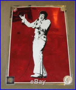 Elvis Presley Large 30 x 21 Concert Red Mylar Poster Original Flashbacks Inc