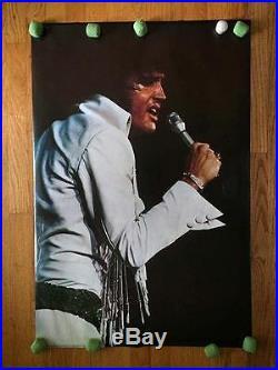Elvis Presley Original Promo Poster 1972 Concert Vintage