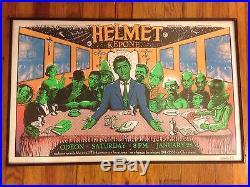 Emek Helmet Cleveland Twilight Zone Concert Tour Poster Print 95 Signed Doodled