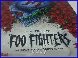Foo Fighter Boston Fenway Park 7/22/18 Rare Foil Concert Poster #20/40authentic