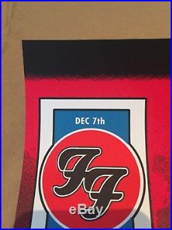 Foo Fighters Concert Poster Nampa Idaho 12/7/17 Ford Center Signed Print Alien