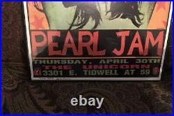 Framed Mint Pearl Jam Soundgarden 1992 Concert Poster Frank Kozik (2218/2500)