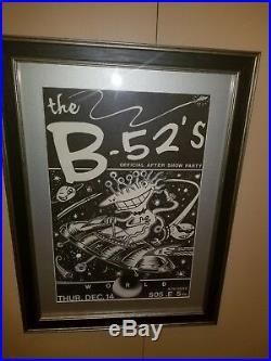 Frank Kozik B-52's Original Art / Poster, 1 Of 1, Austin Dec 14 Excellent/framed