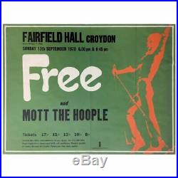 Free 1970 Croydon QUAD Concert Poster (UK)
