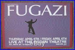Fugazi Original Concert Poster Denver 2001 Kuhn Silkscreen Original