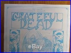 GRATEFUL DEAD Centrum Worcester April 7-9 1988 Promo Concert Lobby Poster WHITE