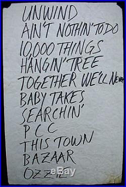GREEN RIVER Vogue 1986 CONCERT POSTER & SETLIST Pearl Jam MUDHONEY Sub Pop