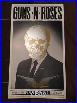 GUNS N ROSES Nashville 2016 Concert HATCH Show Print Poster #214/400 RARE! NR