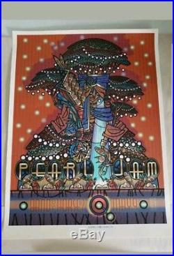 GUY BURWELL Rare 2010 Pearl Jam Official Concert Poster Print Cleveland Vedder