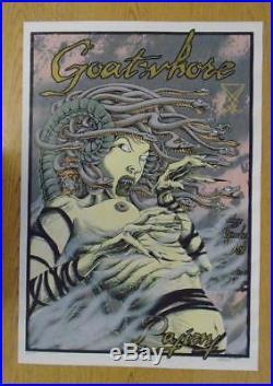 Goatwhore New Orleans 2003 Original Concert Poster Silkscreen Allen Jaeger