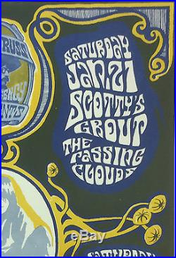 Grande Ballroom 1967 MC5 Signed Gary Grimshaw Fillmore Era Concert Poster