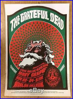 Grateful Dead 1966 Concert Poster Avalon Fd40 Moscoso Fillmore Original Santa