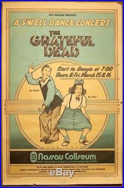 Grateful Dead A Swell Dance Vintage Original 1973 Pre-Concert David Byrd Poster