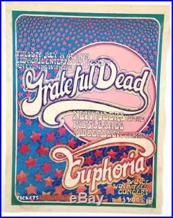 Grateful Dead Euphoria Ballroom Concert Poster 1970 Art by San Andreas Fault