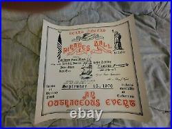 Grateful Dead Hells Angels Jerry Garcia Bo Diddley First Print Concert Poster