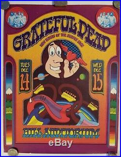 Grateful Dead/ Hill Auditorium/1971 Concert Poster 1st Printing By Gary Grimshaw