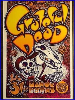 Grateful Dead Manor Downs 1982 Vintage Concert Poster Micael Priest Acid Horse