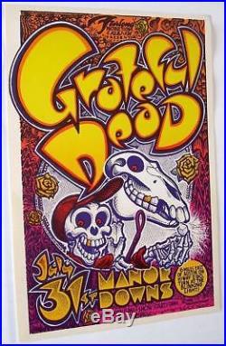 Grateful Dead Manor Downs Original Concert Poster 1982 Art by Michael Priest NM+