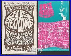 Grateful Dead Otis Redding Fillmore Original Concert Handbill SET LOT 1966 BG 43