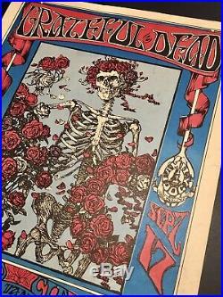 Grateful Dead Skull & Roses Family Dog Fd-26 Original Iconic Concert Poster Nr