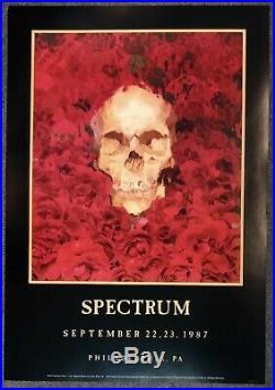 Grateful Dead Spectrum Philadelphia 1987 CONCERT POSTER NUMBERED Hugh Brown