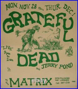 Grateful Dead THE MATRIX 1966 Concert Poster
