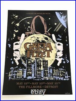 Greta Van Fleet Detroit Concert Poster The Fillmore Limited 500 Press Sold Out
