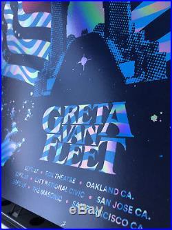 Greta Van Fleet Foil Show Concert Poster Fox Theatre like Fillmore VIP ONLY