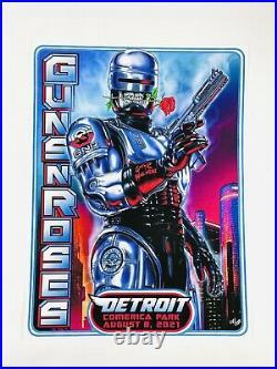 Guns N Roses Detroit Robocop Concert Poster Comerica Park 2021 58/250 Axl Rose