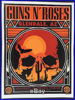 Guns N' Roses Phoenix Glendale AZ 8/15/16 Concert Poster Litho Only 250 Made GnR