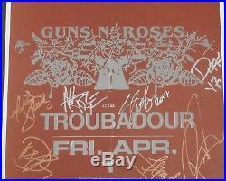 Guns n Roses Autograph Signed Framed Concert Poster JSA Axl Rose Slash Full Band