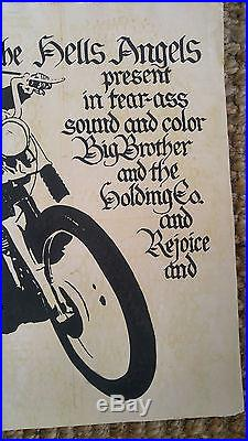 Hell's Angels Janis Joplin Carousel AOR 2.249 Concert Poster, 1968