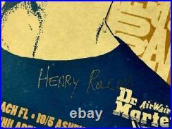 Henry Rollins Concert Poster 1998 Tour Signed