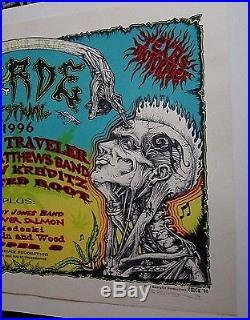 Horde 1996 Concert Poster Blues Traveler Dave Matthews Band Kravitz Rusted Emek