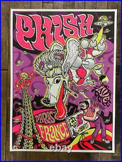 House Industries 1997 Phish Paris France Concert Poster Europe Trey