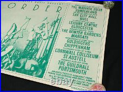 Huge Vintage 1984 New Order Concert Poster 40 x 24 UK Venues Capitol Studios