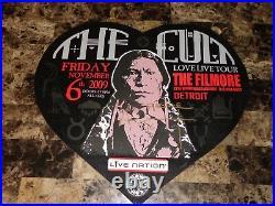 Ian Astbury Signed The Cult Love Live 2009 Concert Show Poster Detroit Fillmore