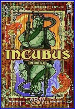 Incubus Warfield 2001 Original Concert Poster Bgp273